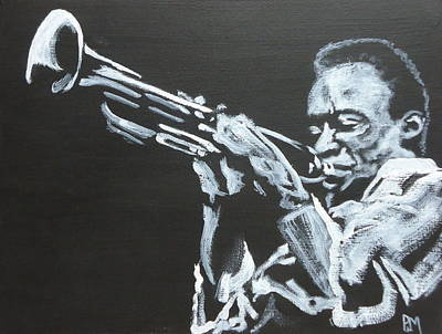 Trumpet Painting - Miles II by Pete Maier