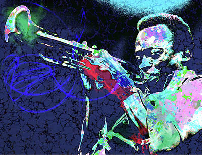 Digital Art - Miles Jazz by Gary Grayson