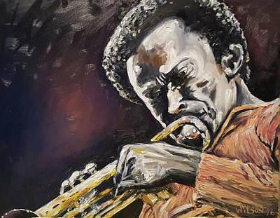 Miles Davis Oil Painting - Miles Davis by Ken Wilson