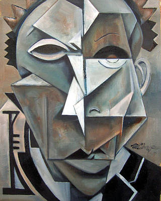 Portrait Painting - Miles Mask by Martel Chapman