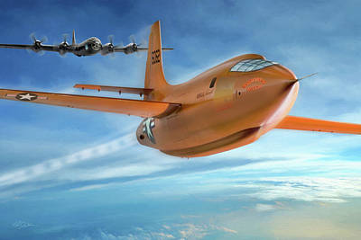 Digital Art - Milestone Bell X-1 by Peter Chilelli