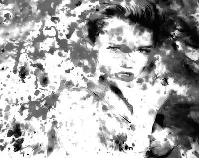 Miley Cyrus Paint Splatter 03b Art Print