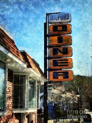 Photograph - Milford Pa - Milford Diner by Janine Riley