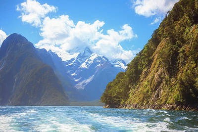 Photograph - Milford Sound Fiordland New Zealand Artistic by Joan Carroll