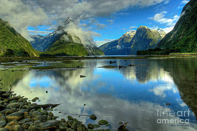 Photograph - Milford Sound by Peter Kennett