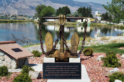 Military Anchor Memorial Cody Wyoming Art Print