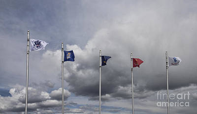 Photograph - Military Branch Flags by Richard Lynch