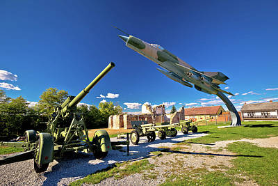 Photograph - Military Cannon And Fighter Jet by Brch Photography