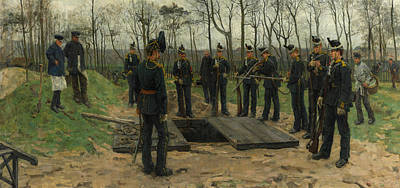 Isaac Painting - Military Funeral by Isaac Israels