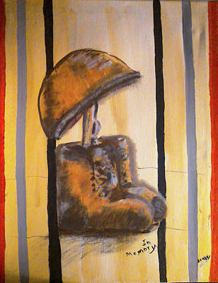Iraq Painting - Military -in Memory-iraq War by Barbara Searcy
