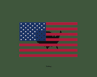 Digital Art - Military Man by David Bridburg