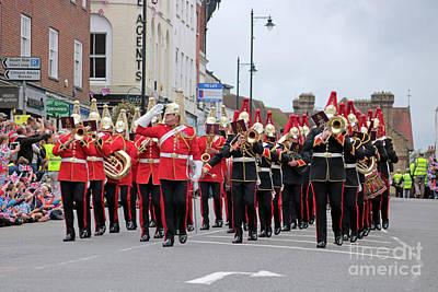 Photograph - Military Marching Band Dorking Surrey Uk by Julia Gavin