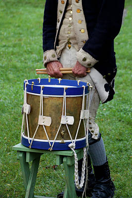 George Washington Mixed Media - Military Musical Instrument Drum Revolutionary War 04 by Thomas Woolworth