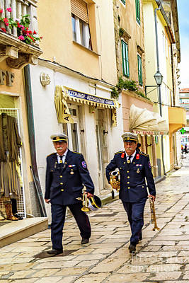 Photograph - Military Musicians In Rab Town, Croatia by Global Light Photography - Nicole Leffer