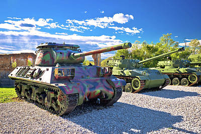 Photograph - Military Tanks In Army Park View by Brch Photography
