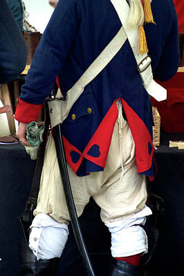 Red White And Blue Mixed Media - Military Uniform Revolutionary War Backside 03 by Thomas Woolworth