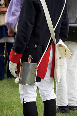 Red White And Blue Mixed Media - Military Uniform Revolutionary War Backside 08 by Thomas Woolworth