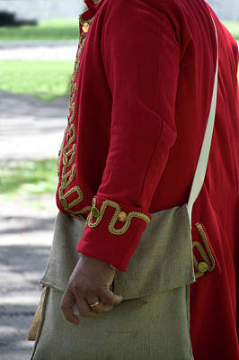 Revolutionary War Mixed Media - Military Uniform Revolutionary War Sideview 04 by Thomas Woolworth