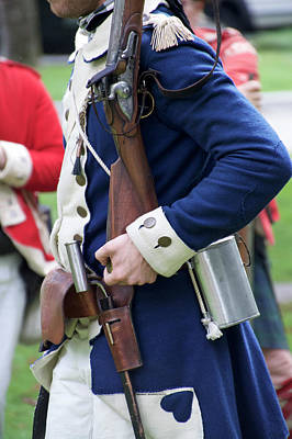 Musket Mixed Media - Military Uniform Revolutionary War Sideview 07 by Thomas Woolworth