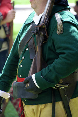 Revolutionary War Mixed Media - Military Uniform Revolutionary War Sideview 09 by Thomas Woolworth