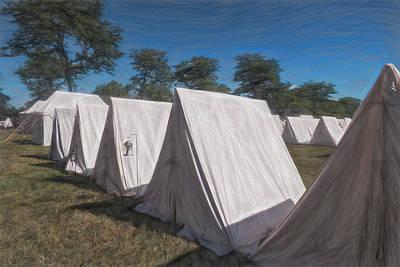 Digital Art - Militia Camp 1812 by Leslie Montgomery