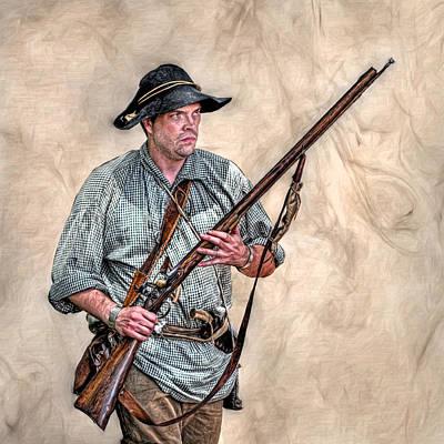 Historical Digital Art - Militia Ranger Scout Portrait by Randy Steele