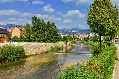Photograph - Miljacka River, Sarajevo, Bosnia And Herzegovina by Elenarts - Elena Duvernay photo