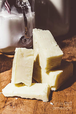 Food And Beverage Royalty-Free and Rights-Managed Images - Milk and cheese by Jorgo Photography - Wall Art Gallery