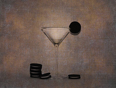 Milk And Cookies - Grunge Art Print