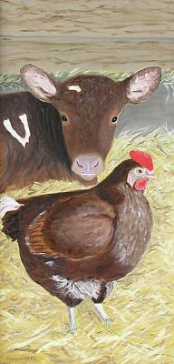 Painting - Milk And Eggs by Barb Pennypacker
