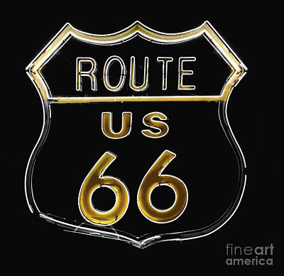 Milk And Honey Route 66 Art Print by Mindy Sommers