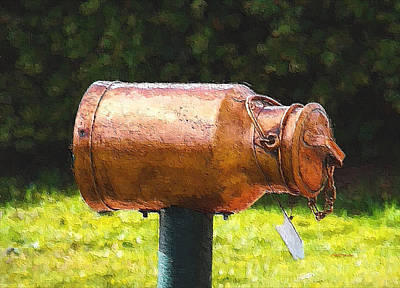 Photograph - Milk Can Mailbox by Ericamaxine Price