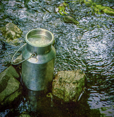 Photograph - Milk Can - Wales by Samuel M Purvis III