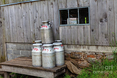 Photograph - Milk Cans by George Sheldon