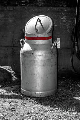 Photograph - Milk Churn by Michelle Meenawong