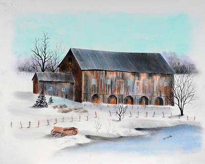 Pastel - Milk Farm Bedford County Pa by Paul Cubeta