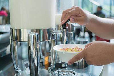 Milk For Drink In Lunch Buffet In Hotal Art Print by Anek Suwannaphoom