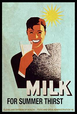 Milk For Summer Thirst - Vintage Poster Vintagelized Original