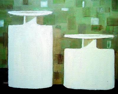 Painting - Milk Glass Country Doodle by VIVA Anderson