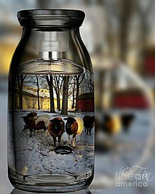 Painting - Milk Jar Reflecton by PainterArtist FIN
