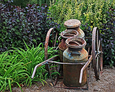 Art Print featuring the photograph Milk Pails by Judy Vincent