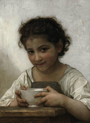 Painting - Milk Soup by William-Adolphe Bouguereau