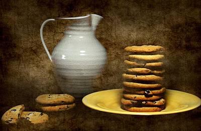 Milk With Cookies Art Print