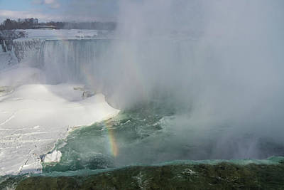 Photograph - Milky Mist And Double Rainbows - Glorious Niagara Falls by Georgia Mizuleva