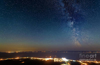 Milky Way Above Carleton In Quebec Art Print by Colin Woods