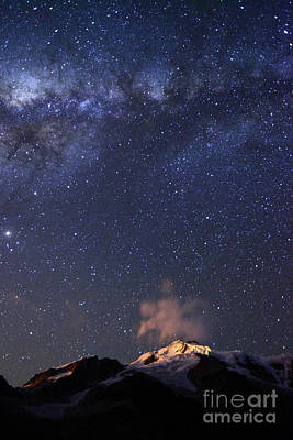 Astro Photograph - Milky Way Above Mt Huayna Potosi Bolivia by James Brunker