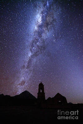 Astro Photograph - Milky Way Above Ruined Church Tower by James Brunker
