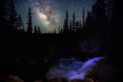 Photograph - Milky Way Above The Provo River. by Johnny Adolphson