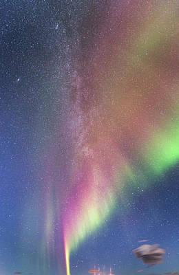 Photograph - Milky Way And Aurora by Hitendra SINKAR