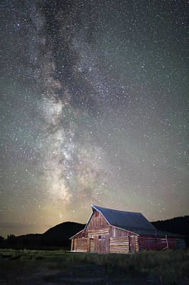 Photograph - Milky Way And Barn by Jean Clark